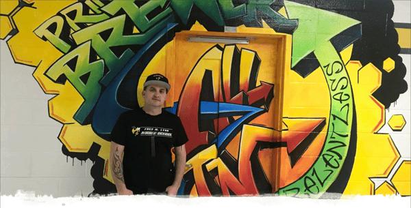 Hamish Brewer Grafiti Wall